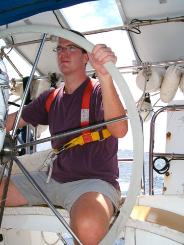 Sean at the Helm